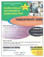FREE Customer Service/Retail Training + job skills training