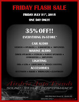 FRIDAY FLASH SALE-35% OFF EVERYTHING IN-STORE!!