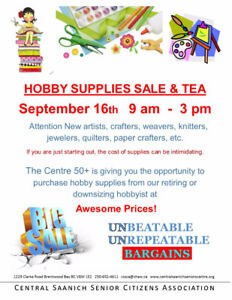 Hobby Supplies Sale