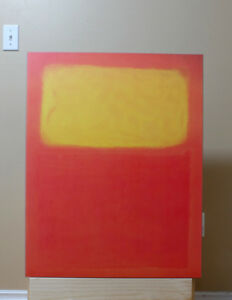 Rothko poster 'Orange and Yellow 1956' dry mounted to mdf