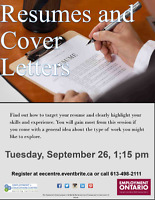 Resumes and Cover Letters Make yours great at EEC!