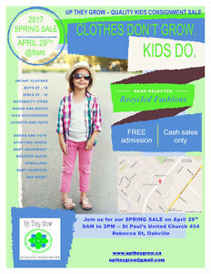Oakville's Largest Kids Consignment Sale - FREE Admission