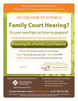 """Free Workshop """"Preparing for a Family Court Hearing"""""""