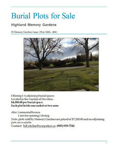 Burial Plots for Sale