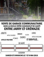 Vente de garage communautaire quartier Villeray
