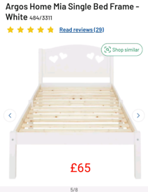 Mia Heart Single Bed Frame only £65. RBW Clearance Outlet Leicester Ci