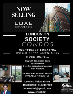 Society London condo for sale Buy with 20k deposit down