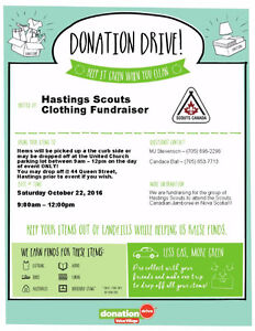 1st Hastings Scouts is hosting a Clothing Drive Fundraiser Peterborough Peterborough Area image 1