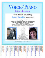 Voice and Piano Lessons!