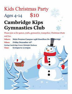 Parents Night Out at the Cambridge Kips Gymnastics club Cambridge Kitchener Area image 1