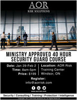 40 Hour Security Guard Course