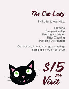 The Cat Lady; affordable cat sitting you can trust
