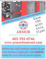 Quality Furnace install 15% off