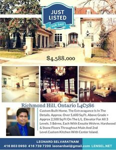 Gorgeous Richmond Hill property for sale 5+1bed 9bath