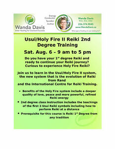 Holy Fire Reiki 2nd Degree Aug. 6