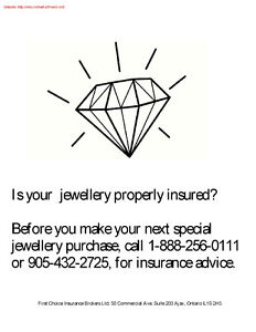 Is your jewelery properly insured?