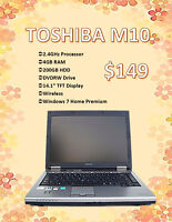 SPRING LAPTOP SALE - Toshiba M10 Laptop Only $149!