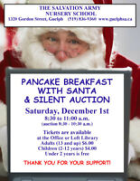 Pancake Breakfast with Santa & Silent Auction