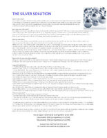 The Silver Solution - Ionic Silver / Colloidal Silver