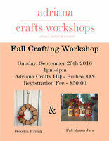 Fall Crafting Workshop with Adriana Crafts
