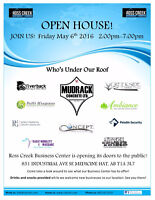 OPEN HOUSE EVENT!! FRIDAY MAY 6th, 2-7 PM
