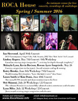 Ian Sherwood plus other Concerts and Workshops in Dartmouth