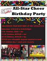 Book your Cheer Birthday Party!