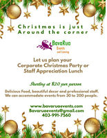 Let us cater your Christmas Party