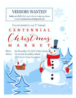 INVITING ALL VENDORS TO THE CENTENNIAL CHRISTMAS MARKET