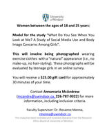 Wanted: Female, 18-25 yrs, model for psychology study!
