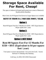 Storage Space Available For Rent Cheap