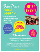 Open House Hiring Event - September 12th!