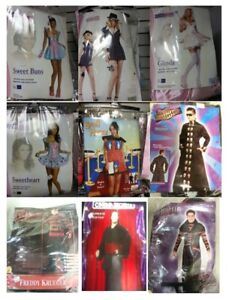 One Large Lot of New Halloween Costumes, Wigs and Accessories