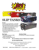 Slip tanks and pumps