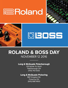 Roland Day at Long and McQuade on November 12th