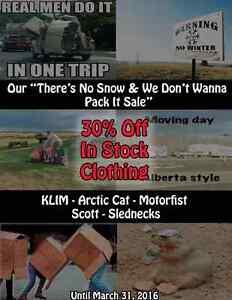 30% Off KLIM, Arctic Cat, Motorfist, Scott & Slednecks!