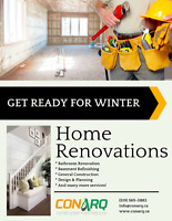 Kick-off your Winter Renovations : get a free consultation today