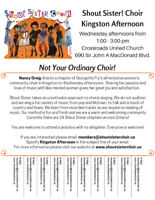 Kingston Afternoon Shout Sister Choir is Welcoming New Members!