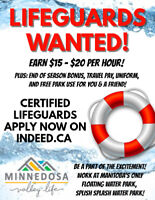 Lifeguards & Assistant Lifeguards WANTED at Minnedosa Beach