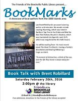 BOOKMARKS Book Talk with local author, Brent Robillard