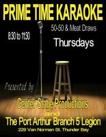 BR. 5 LEGION:  PRIME TIME KARAOKE with TONY HEINICKE Every THURS