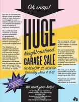 GARAGE SALE - Neighbour's of Glasgow St. Community Action Group