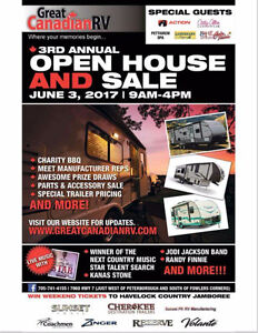 GREAT CANADIAN RV OPEN HOUSE  June 3rd 9-4