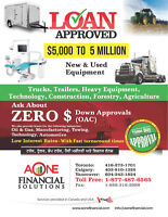 LOANS FOR BUSINESS/TRUCKS/TRAILERS