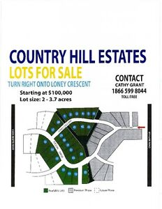 Country Hill Estates Subdivision, residential land for sale