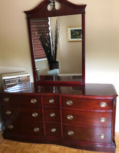 5 piece bedroom Furniture Solid Cherry, Andrew Malcolm set