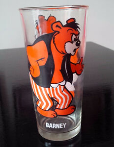 1975 MGM BARNEY BEAR Tom & Jerry PEPSI Collector Series Glass