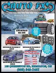 Remote starters and winter tire sales