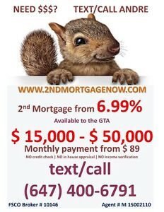 NO CREDIT CHECK 2ND MORTGAGE Oakville / Halton Region Toronto (GTA) image 1