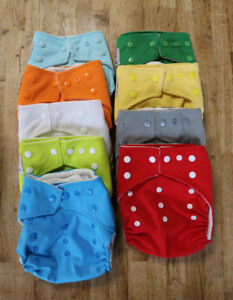 Cloth diapers - adjustable size, like new